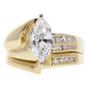 1.51 ct. Marquise Cut Bridal Set Ring, D, VS1 #3