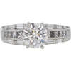 1.74 ct. Round Cut Solitaire Ring, H, SI2 #3