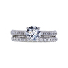 1.09 ct. Round Cut Bridal Set Ring, F, VS2 #3