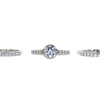 1.07 ct. Round Cut Bridal Set Ring, H, I1 #3
