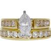 0.95 ct. Marquise Cut Bridal Set Ring, G-H, SI1 #2