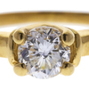 Art Deco GIA 1.01 ct. Round Cut Bridal Set Ring, F, SI1 #4