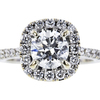 1.01 ct. Round Cut Halo Ring, I, SI2 #4