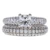 1.07 ct. Princess Cut Bridal Set Ring, E, SI1 #3