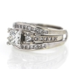 .99 ct. Princess Cut Bridal Set Ring #2