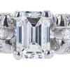 1.09 ct. Emerald Cut Bridal Set Ring, F, VS2 #4