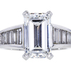 3.74 ct. Emerald Cut Solitaire Ring, E, VS2 #3