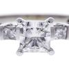 1.01 ct. Princess Cut Bridal Set Ring, G, VS2 #4