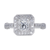 1.01 ct. Princess Cut Halo Ring, G, SI2 #3