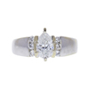 1.01 ct. Pear Cut Bridal Set Ring, F, I1 #2
