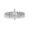 1.01 ct. Pear Cut Bridal Set Ring, F, I1 #2