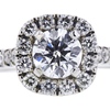 0.71 ct. Round Cut Bridal Set Ring, G, SI2 #4