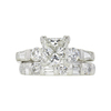 1.51 ct. Princess Cut Bridal Set Ring, H, SI1 #3