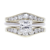 1.1 ct. Princess Cut Bridal Set Ring, F, VVS2 #3