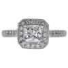0.94 ct. Princess Cut Halo Ring, H-I, SI1-SI2 #1