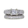 0.98 ct. Princess Cut Bridal Set Ring, G-H, SI2-I1 #2