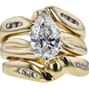 1.63 ct. Pear Cut Bridal Set Ring, G, SI1 #4