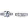 2.16 ct. Round Cut Bridal Set Ring, G, SI2 #3