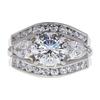 1.35 ct. Round Cut Bridal Set Ring, F, SI1 #3