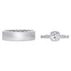 0.81 ct. Round Cut Bridal Set Ring, K, SI1 #3