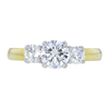 0.90 ct. Round Cut 3 Stone Ring, G, SI2 #3