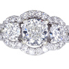 1.51 ct. Cushion Cut 3 Stone Ring #3