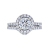 1.25 ct. Round Cut Bridal Set Ring, F, SI1 #4