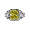3.09 ct. Radiant Cut Halo Ring, Fancy, VS2-SI1 #2