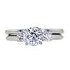 1.00 ct. Round Cut Bridal Set Ring, E, SI2 #2