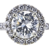 1.00 ct. Round Cut Halo Ring, J, SI2 #4