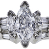 1.00 ct. Marquise Cut Bridal Set Ring, E, SI2 #1