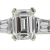 Art Deco GIA 1.04 ct. Emerald Cut Bridal Set Ring, J, VS2 #4