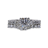 1.01 ct. Round Cut Bridal Set Ring, F, I1 #3