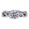 1.00 ct. Round Cut Bridal Set Ring, H, SI2 #1