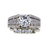 1.66 ct. Round Cut Bridal Set Ring, I, SI2 #2