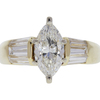 1.36 ct. Marquise Cut Solitaire Ring, H, SI1 #3