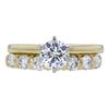 0.82 ct. Round Cut Bridal Set Ring, G, SI1 #3