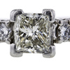 1.52 ct. Princess Cut Bridal Set Ring #2