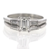 1.05 ct. Emerald Cut Bridal Set Ring #1