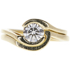 0.75 ct. Round Cut Bridal Set Ring, J, SI1 #3