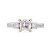 1.01 ct. Round Cut 3 Stone Ring, H, I1 #3