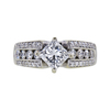 0.91 ct. Princess Cut Solitaire Ring, F, SI2 #2