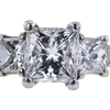 1.02 ct. Princess Cut 3 Stone Ring, E, VVS2 #4