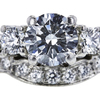 1.14 ct. Round Cut Bridal Set Ring, G, SI2 #4