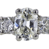 1.16 ct. Oval Cut 3 Stone Ring, J, SI2 #4
