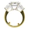 6.16 ct. Emerald Cut 3 Stone Ring, K, VVS2 #4