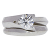 0.93 ct. Round Cut Bridal Set Ring, E, VS2 #3