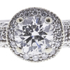1.51 ct. Round Cut Bridal Set Ring, H, SI2 #4