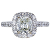 1.50 ct. Cushion Cut Halo Ring, J-K, VS1-VS2 #1