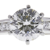 1.53 ct. Round Modified Brilliant Cut Bridal Set Ring, J, VS2 #4